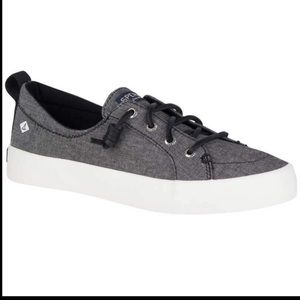 NEW Sperry Top-Sider Black Chambray Memory Foam